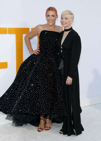 Busy Philipps and Michelle Williams at the Los Angeles premiere of I Feel Pretty held at the Regency Village Theatre in Westwood, USA on April 17, 2018.