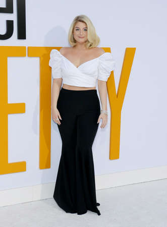 Meghan Trainor at the Los Angeles premiere of I Feel Pretty held at the Regency Village Theatre in Westwood, USA on April 17, 2018.