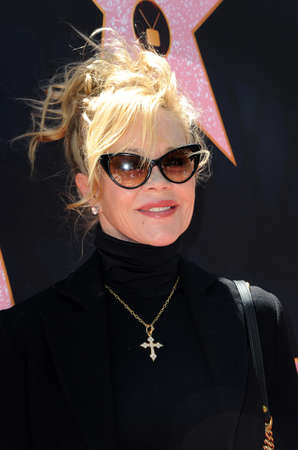 Melanie Griffith at Eva Longorias Hollywood Star Ceremony Post-Luncheon held at the Private Residence in Beverly Hills, USA on April 16, 2018.