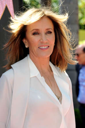 Felicity Huffman at Eva Longorias Hollywood Star Ceremony Post-Luncheon held at the Private Residence in Beverly Hills, USA on April 16, 2018. Editorial