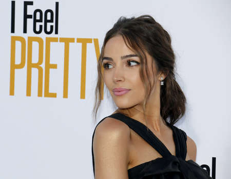 Olivia Culpo at the Los Angeles premiere of I Feel Pretty held at the Regency Village Theatre in Westwood, USA on April 17, 2018.