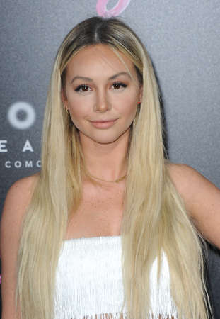 Corinne Olympios at the Los Angeles premiere of Tully held at the Regal LA LIVE Stadium 14 in Los Angeles, USA on April 18, 2018.