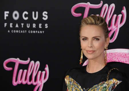 Charlize Theron at the Los Angeles premiere of Tully held at the Regal LA LIVE Stadium 14 in Los Angeles, USA on April 18, 2018.