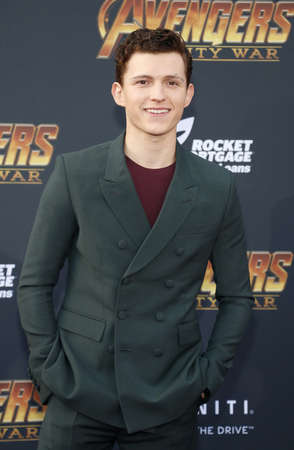 Tom Holland at the premiere of Disney and Marvel's 'Avengers: Infinity War' held at the El Capitan Theatre in Hollywood, USA on April 23, 2018. Editorial