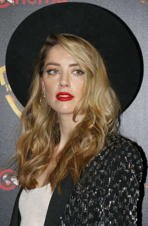 Amber Heard at the 2018 CinemaCon - Warner Bros. Pictures 'The Big Picture' Presentation at the Caesars Palace in Las Vegas, USA on April 24, 2018.