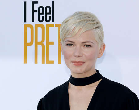 Michelle Williams at the Los Angeles premiere of I Feel Pretty held at the Regency Village Theatre in Westwood, USA on April 17, 2018.