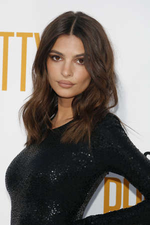 Emily Ratajkowski at the Los Angeles premiere of I Feel Pretty held at the Regency Village Theatre in Westwood, USA on April 17, 2018. Editorial