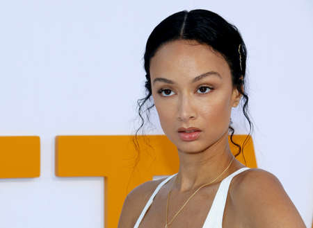 Draya Michele at the Los Angeles premiere of I Feel Pretty held at the Regency Village Theatre in Westwood, USA on April 17, 2018.
