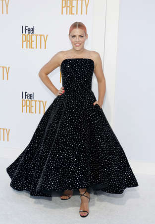 Busy Philipps at the Los Angeles premiere of 'I Feel Pretty' held at the Regency Village Theatre in Westwood, USA on April 17, 2018.