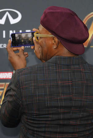 Samuel L. Jackson at the premiere of Disney and Marvel's 'Avengers: Infinity War' held at the El Capitan Theatre in Hollywood, USA on April 23, 2018. Redakční