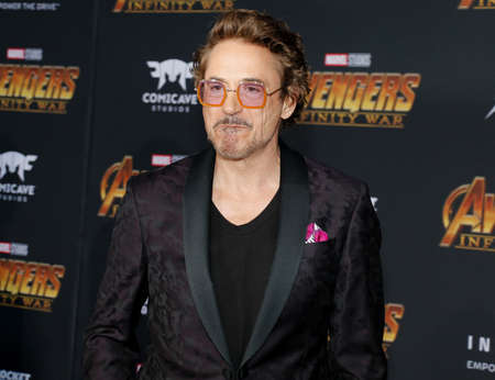 Robert Downey Jr. at the premiere of Disney and Marvel's 'Avengers: Infinity War' held at the El Capitan Theatre in Hollywood, USA on April 23, 2018. Sajtókép