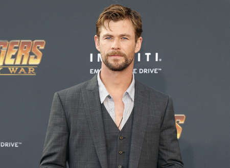 Chris Hemsworth at the premiere of Disney and Marvels Avengers: Infinity War held at the El Capitan Theatre in Hollywood, USA on April 23, 2018. Editorial