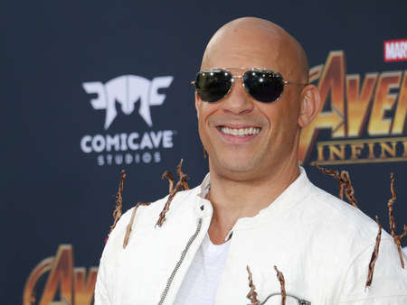 Vin Diesel at the premiere of Disney and Marvels Avengers: Infinity War held at the El Capitan Theatre in Hollywood, USA on April 23, 2018.