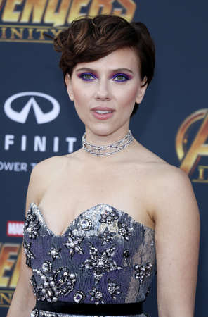Scarlett Johansson at the premiere of Disney and Marvels Avengers: Infinity War held at the El Capitan Theatre in Hollywood, USA on April 23, 2018.