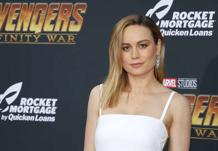 Brie Larson at the premiere of Disney and Marvels Avengers: Infinity War held at the El Capitan Theatre in Hollywood, USA on April 23, 2018.