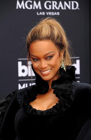 Tyra Banks op de Billboard Music Awards 2018 gehouden op 20 mei 2018 in de Mgm Grand Garden Arena in Las Vegas, Verenigde Staten.