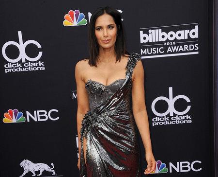 Padma Lakshmi op de Billboard Music Awards 2018 gehouden op 20 mei 2018 in de Mgm Grand Garden Arena in Las Vegas, Verenigde Staten.