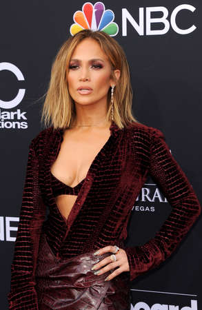 Jennifer Lopez at the 2018 Billboard Music Awards held at the MGM Grand Garden Arena in Las Vegas, USA on May 20, 2018. 新聞圖片