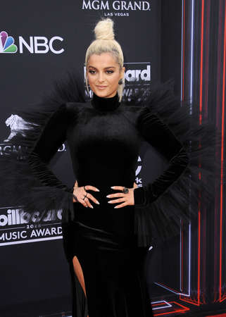 Bebe Rexha at the 2018 Billboard Music Awards held at the MGM Grand Garden Arena in Las Vegas, USA on May 20, 2018.