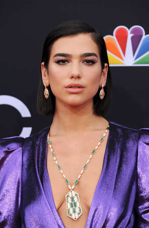 Dua Lipa at the 2018 Billboard Music Awards held at the MGM Grand Garden Arena in Las Vegas, USA on May 20, 2018. Editorial