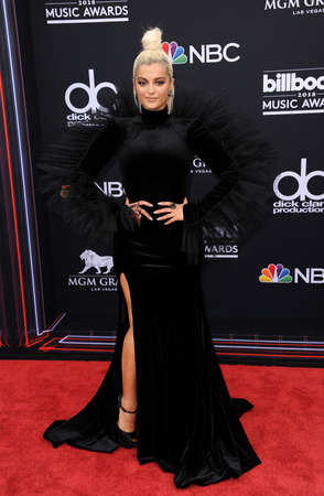 Bebe Rexha at the 2018 Billboard Music Awards held at the MGM Grand Garden Arena in Las Vegas, USA on May 20, 2018.