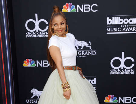 Janet Jackson at the 2018 Billboard Music Awards held at the MGM Grand Garden Arena in Las Vegas, USA on May 20, 2018. Editorial
