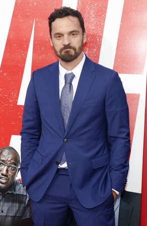 Jake Johnson at the Los Angeles premiere of Tag held at the Regency Village Theatre in Westwood, USA on June 7, 2018.