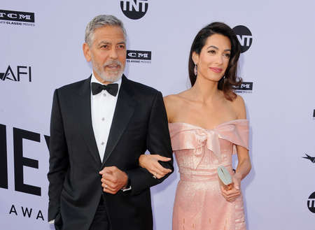 George Clooney and Amal Clooney at the AFI's 46th Life Achievement Award Gala Tribute To George Clooney held at the Dolby Theatre in Hollywood, USA on June 7, 2018.