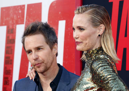 Leslie Bibb and Sam Rockwell at the Los Angeles premiere of 'Tag' held at the Regency Village Theatre in Westwood, USA on June 7, 2018. Editorial