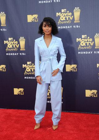 Yara Shahidi at the 2018 MTV Movie And TV Awards held at the Barker Hangar in Santa Monica, USA on June 16, 2018.