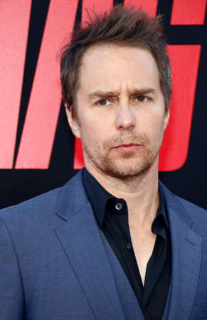 Sam Rockwell at the Los Angeles premiere of 'Tag' held at the Regency Village Theatre in Westwood, USA on June 7, 2018.