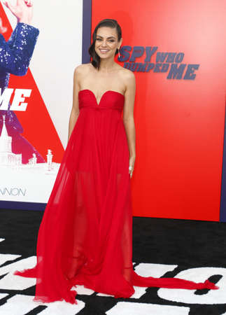 Mila Kunis at the Los Angeles premiere of The Spy Who Dumped Me held at the Regency Village Theater in Westwood, USA on July 25, 2018.