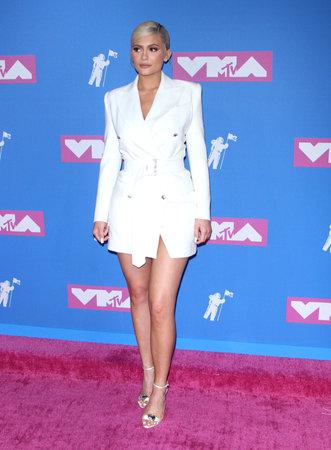 Kylie Jenner op de Mtv Video Music Awards 2018, gehouden op 20 augustus 2018 in de Radio City Music Hall in New York, Verenigde Staten. Redactioneel