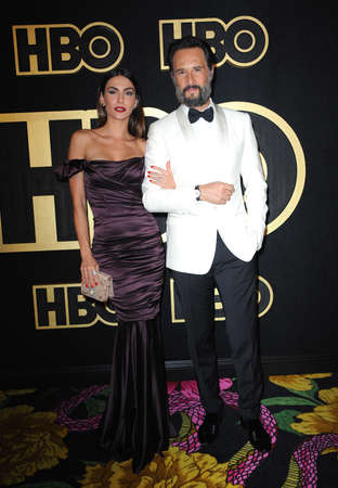 Mel Fronckowiak and Rodrigo Santoro at the HBO's Official 2018 Emmy After Party held at the Pacific Design Center in West Hollywood, USA on September 17, 2018. Editorial