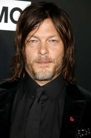 Norman Reedus at the premiere of AMC's 'The Walking Dead' Season 9 held at the DGA Theater in Los Angeles, USA on September 27, 2018.