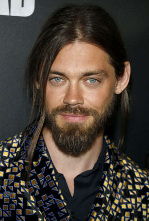 Tom Payne at the premiere of AMC's 'The Walking Dead' Season 9 held at the DGA Theater in Los Angeles, USA on September 27, 2018. Editorial