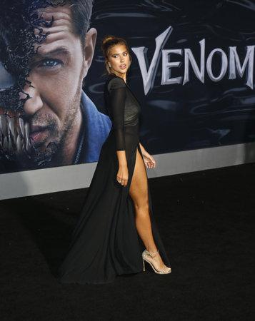 Kara Del Toro at the Los Angeles premiere of 'Venom' held at the Regency Village Theatre in Westwood, USA on October 1, 2018.