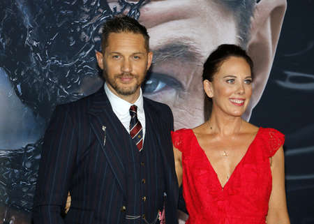 Los Angeles, USA - October 1, 2018 - Tom Hardy and Kelly Marcel at the premiere of 'Venom' held at the Regency Village Theater, Westwood Village. Stock Photo - 109867853