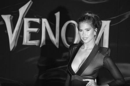 Kara Del Toro at the Los Angeles premiere of 'Venom' held at the Regency Village Theatre in Westwood, USA on October 1, 2018. Editorial