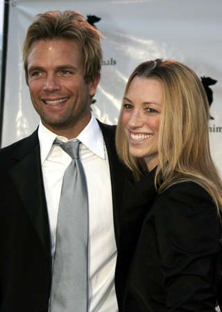 David Chokachi and wife Susan at the IDA Awards - In Defense of Animals Hosts 2nd Annual Guardian Award held at the Paramount Studios in Los Angeles, USA on October 30, 2004.