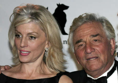Peter Falk and wife Shera Danse at the IDA Awards - In Defense of Animals Hosts 2nd Annual Guardian Award held at the Paramount Studios in Los Angeles, USA on October 30, 2004.