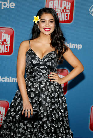 Auli'i Cravalho at the World premiere of 'Ralph Breaks The Internet' held at the El Capitan Theatre in Hollywood, USA on November 5, 2018. Editorial