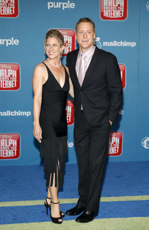 Charissa Barton and Alan Tudyk at the World premiere of Ralph Breaks The Internet held at the El Capitan Theatre in Hollywood, USA on November 5, 2018.