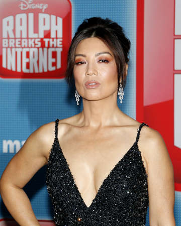 Ming-Na Wen at the World premiere of Ralph Breaks The Internet held at the El Capitan Theatre in Hollywood, USA on November 5, 2018. 에디토리얼
