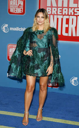 Julia Michaels at the World premiere of 'Ralph Breaks The Internet' held at the El Capitan Theatre in Hollywood, USA on November 5, 2018.