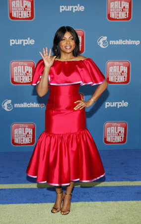 Taraji P. Henson at the World premiere of 'Ralph Breaks The Internet' held at the El Capitan Theatre in Hollywood, USA on November 5, 2018. Editorial