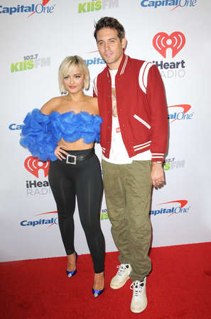 G-Eazy and Bebe Rexha at the KIIS FM's Jingle Ball 2018 held at the Forum in Inglewood, USA on November 30, 2018. Editoriali