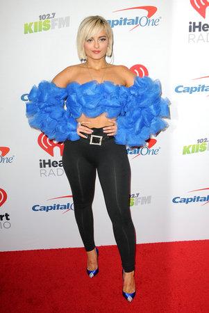 Bebe Rexha at the KIIS FM's Jingle Ball 2018 held at the Forum in Inglewood, USA on November 30, 2018. Redactioneel