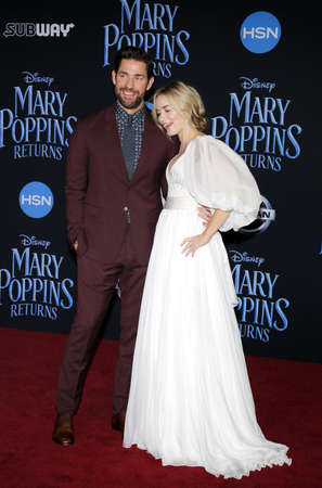 actor John Krasinski and actress Emily Blunt at the World premiere of Disneys Mary Poppins Returns held at the Dolby Theatre in Hollywood, USA on November 29, 2018.