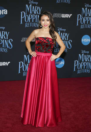 actress Ciara Wilson at the World premiere of Disneys Mary Poppins Returns held at the Dolby Theatre in Hollywood, USA on November 29, 2018.